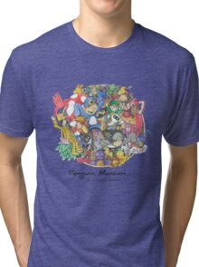 Penguin Mansion - Circle of Characters Tri-blend T-Shirt
