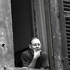 Man Gazing, Siena Italy by tperlste