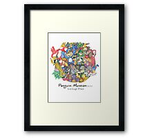 Penguin Mansion - Circle of Characters Framed Print
