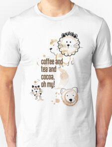 Coffee and Tea and Cocoa, Oh My! Unisex T-Shirt