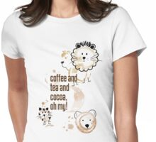 Coffee and Tea and Cocoa, Oh My! Womens Fitted T-Shirt