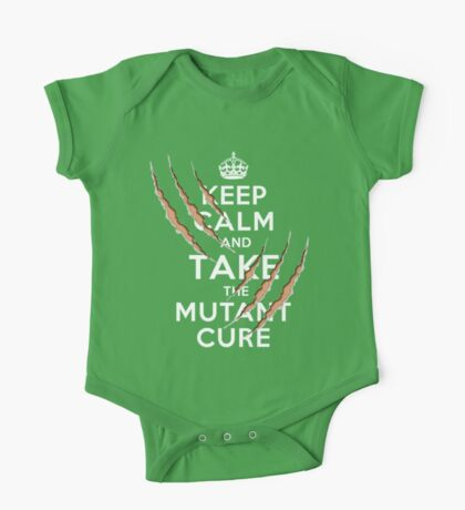 Keep Calm and Take the Mutant Cure (Dark Colors) One Piece - Short Sleeve