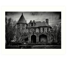 Gloom Settles Over The House On The Hill Art Print