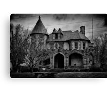 Gloom Settles Over The House On The Hill Canvas Print