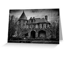 Gloom Settles Over The House On The Hill Greeting Card