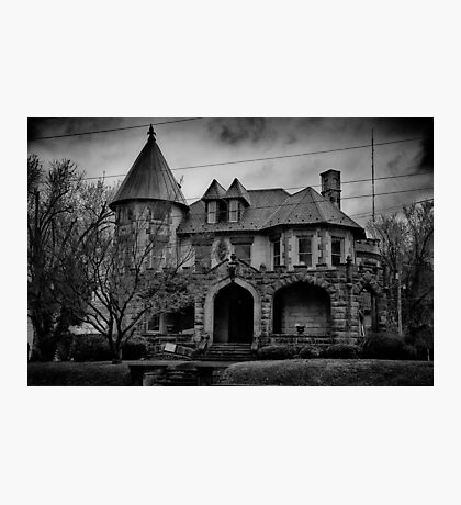 Gloom Settles Over The House On The Hill Photographic Print