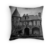 Gloom Settles Over The House On The Hill Throw Pillow