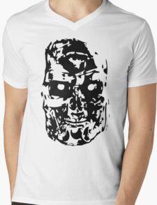 Black Ink Terminate  Mens V-Neck T-Shirt