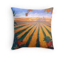 Citrus Sunrise Over Orange County Throw Pillow