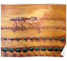 Early Morning Plowing Fields Poster