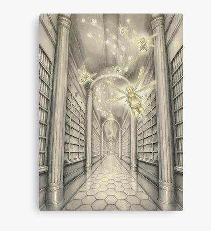 The White Library of the Elder Oeda Canvas Print