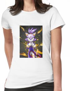 Blaze the Cat: Fire Within Me Womens Fitted T-Shirt
