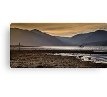 Sunset over Holy Loch, Scotland. UK Canvas Print