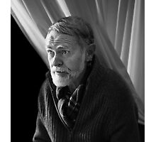 The Man Behind The Curtain. Photographic Print
