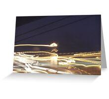 light dancing Greeting Card