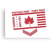 Postage Paid Canada Canvas Print