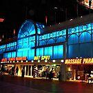 Blue Neon Atlantic City Boardwalk by Jane Neill-Hancock