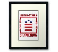 Postage Paid USA Framed Print