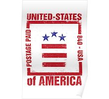 Postage Paid USA Poster