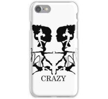 Crazy (White) iPhone Case/Skin