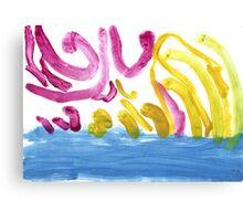Birds flying over the ocean Canvas Print