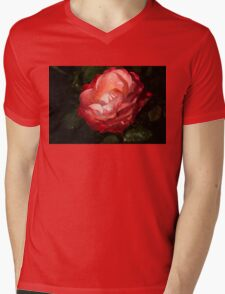 Chiaroscuro Rose – A Gift From My Mother's Garden Mens V-Neck T-Shirt