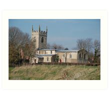 Parish Church Of All Saints, Barnby on The Willows, Nr Newark Art Print