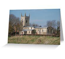 Parish Church Of All Saints, Barnby on The Willows, Nr Newark Greeting Card