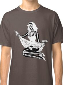 Pin Up Skeleton Girl Classic T-Shirt