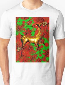 Reindeer and Poinsettia T-Shirt