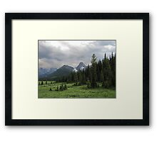 Storm Over Lougheed Framed Print