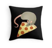 NYC Rats ❤︎ Pizza Throw Pillow
