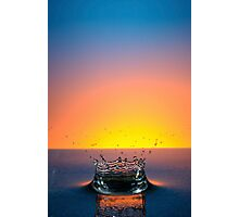 Splashing Water Droplet Photographic Print