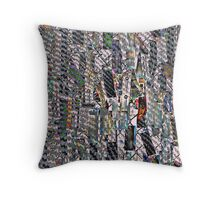 Price Tags on a Fence Throw Pillow