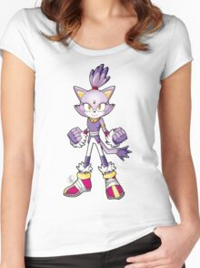 Sonic Boom: Blaze the Cat Women's Fitted Scoop T-Shirt
