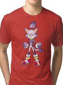 Sonic Boom: Blaze the Cat Tri-blend T-Shirt