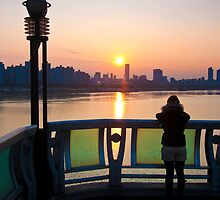 Seoul Belle at sunset by AdamRussell