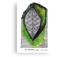 The Exhausted Leaf Canvas Print