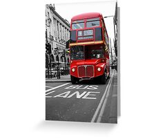 London Town Greeting Card