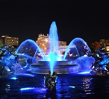 J.C. Nichols Fountain in Royal Blue by Catherine Sherman