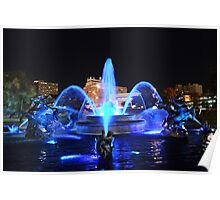 J.C. Nichols Fountain in Royal Blue Poster