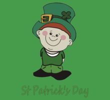 A Little Man Ready for St Patrick's Day T-Shirt by Dennis Melling