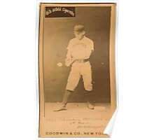 Benjamin K Edwards Collection Schomberg Indianapolis Hoosiers baseball card portrait Poster