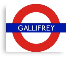 Doctor Who Gallifrey Tube Symbol Canvas Print
