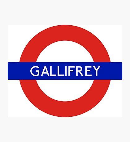 Doctor Who Gallifrey Tube Symbol Photographic Print
