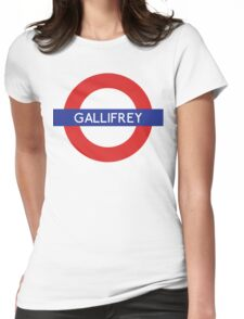 Doctor Who Gallifrey Tube Symbol Womens Fitted T-Shirt