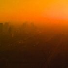 smoggy Bangkok sunrise by Karl David Hill
