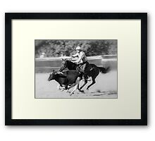 Campdraft Framed Print