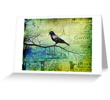 Portrait of a Raven Greeting Card
