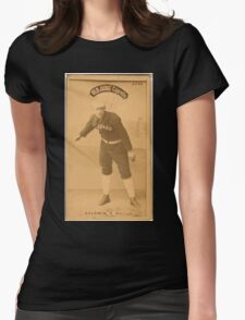 Benjamin K Edwards Collection Mark Baldwin Chicago White Stockings baseball card portrait Womens Fitted T-Shirt